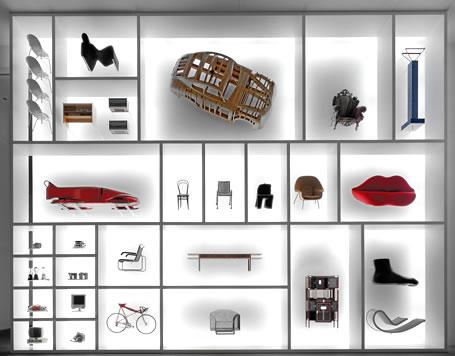 Ein Monumentales Regal   Zwei Stockwerke Hoch   Bildet Den Eingang Zur  Dauerausstellung Design In Der